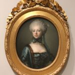 Eleonora Agnes Scheel, born Raben, married into the Scheel family in 1765. Later in life, she had to ward off an ever-increasing number of creditors, who came to Gammel Estrup and Ulstrup to charge the colossal debts her son, Jørgen Scheel, had amassed on his travels in Europe. Photo: Kasper Lynge Tipmark 2017.