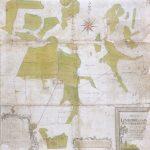 Da stamhusejer Niels Jermiin indledte arbejdet med udskiftningen af Lønborggårds gods i 1792-93, fik han udarbejdet dette kort over hovedgårdens engskifter. Det er ganske karakteristisk for Lønborggård, og i øvrigt for det vestjyske landbrug i bred forstand, at det var engene og ikke de sandede agre, godsejeren fokuserede på. Foto: Ringkøbing-Skjern Museum