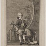 Christian Ludvig Scheel von Plessen (1741-1801). På dette kobberstik af Peter Cramer fra vinteren 1749 er den unge adelsmand knap 8 år gammel. Foto: Kobberstiksamlingen – Statens Museum for Kunst.