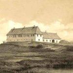 Baroniet Rysensteens hovedbygning. Tegnet af Frederik Richardt 1868. Scan: Lemvig Museum.