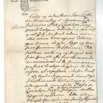 Peder Tangs fripas udstedt af herremanden på Nørre Vosborg, Henrik Johan de Leth. Fripasset løste den 12-årige dreng fra stavnsbåndet, en forordning fra 1733, der forbød de 14-36-årige mænd på fæstegårdene at forlade det gods, hvor de hørte til. På den måde sikrede man arbejdskraft på godserne. Forordningen var i kraft indtil 1788. Laurids Tang måtte betale 100 rigsdaler for sin søns fripas og ikke nok med det: Henrik de Leth krævede desuden en eng ved åen nord for Nørre Tang. Faderen var villig til at ofre meget for at få sønnen frikøbt, så han gik ind på betingelserne. Foto: Esben Graugaard.