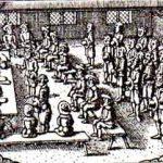 Tingbogen fra Clausholm birkeret i årene 1752-60 rummer omkring 1000 tætskrevne sider. På den opslåede side kan man følge begivenhederne under skovhugstsagen mod møllerenken Kiedde M. Huusher fra Revens Mølle ved Voldum. På siderne her beskrives bl.a. det dramatiske optrin, hvor ridefogeden afviste enkens tilbud om at betale for det ulovligt skovede træ. At sagen blev ført for retten er bemærkelsesværdigt, idet godsejerne på Clausholm havde ret til at opkræve deres undergivnes bøder for brud på straffelovgivningen, uden at der blev fældet dom. Herskabets konflikt med møllerenken var formentlig så optrappet, at man ønskede at anvende birkeretten til at statuere et eksempel. Ophav: Clausholm birkedommer, justitsprotokol 1752-60 (Rigsarkivet, Viborg). Foto: Dorte Kook Lyngholm
