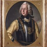 Portrait of Matthias Vilhelm Huitfeldt. The Norwegian nobleman Matthias Vilhelm Huitfeldt owned Clausholm in the years 1758-1801. He was originally destined for a military career, but instead he became a landlord and official in the regional government of the monarchy. He was appointed as both prefect over the diocese of Viborg and sheriff over Hald and Skivehus counties. He became the longest seated landlord at Clausholm in the 18th century, and he and his wife Charlotte Emerantze Raben are buried in two large marble sarcophaguses in Voldum Church. Copyright: Clausholm painting. Photo: Michael Green.