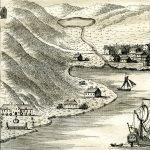 Lidt herregårdsagtig ser Kabbel ud, men beskeden, som den også var. Dog har tegneren fanget et vist særpræg ved haven med det pyntelige stakit, måske et læ mod nordvestenvinden. Også træerne må have været et sjældent syn i Vestjylland. Detalje af stik i Danske Atlas 1769.