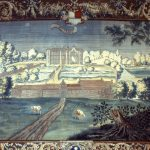 Riddersalens gobeliner af Gammel Estrup og Jørgen Skeels andre herregårde blev udført omkring 1690. Foto: Gammel Estrup - Herregårdsmuseet.